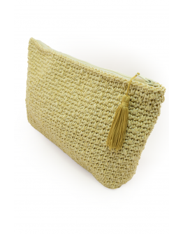 Golden Knitted Bag