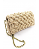 Ηandmade beige knitted bag