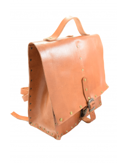 Original handmade leather backpack