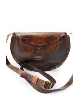 Handmade real leather women shoulder bag
