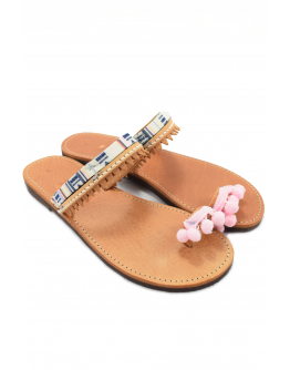 Handmade leather sandals boho for women