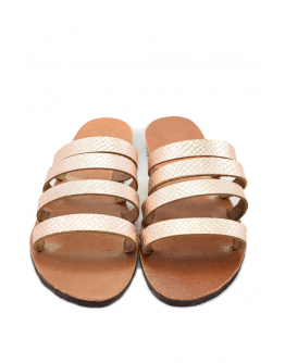 Handmade leather sandals for women with leather straps