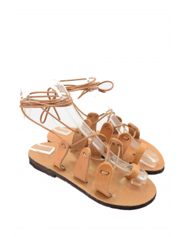 Handmade ancient greek leather sandals for women