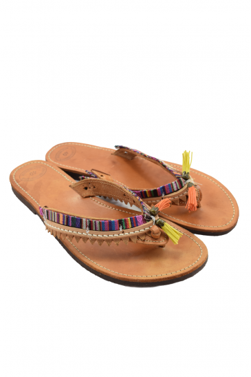 Handmade leather sandals for women - boho style