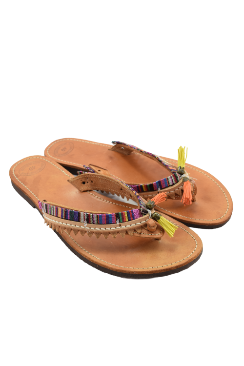 Handmade leather sandals for women - boho style